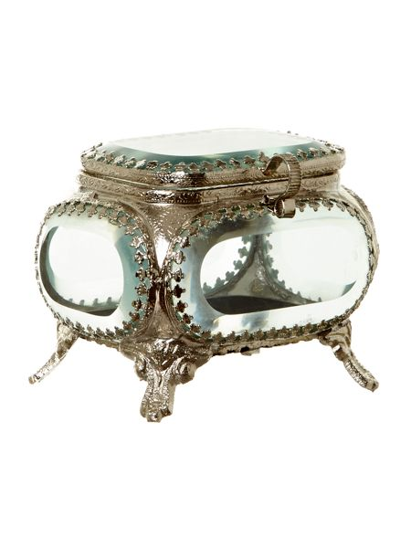 Shabby Chic Glass Trinket Box