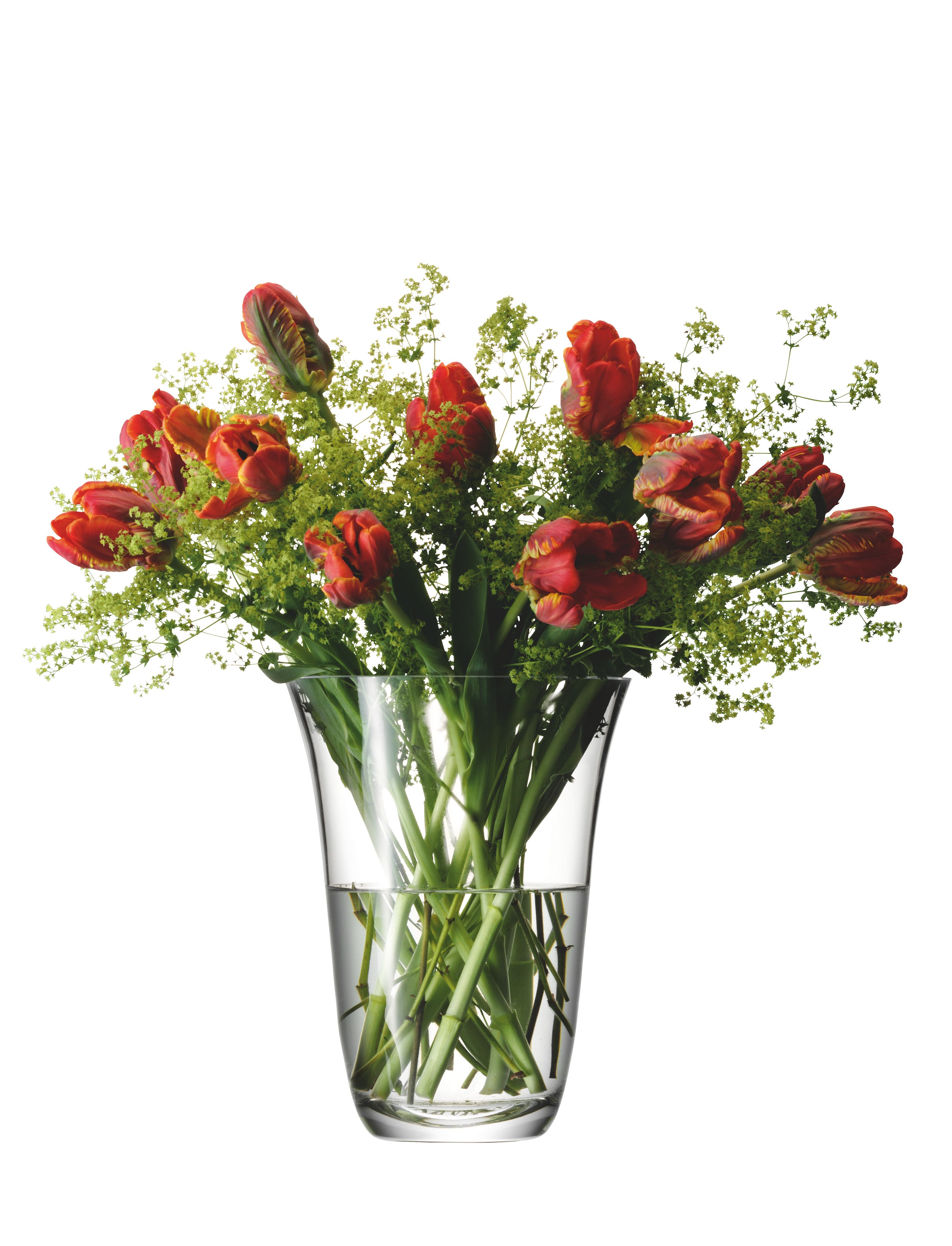 Open bouquet vase, clear, 23cm