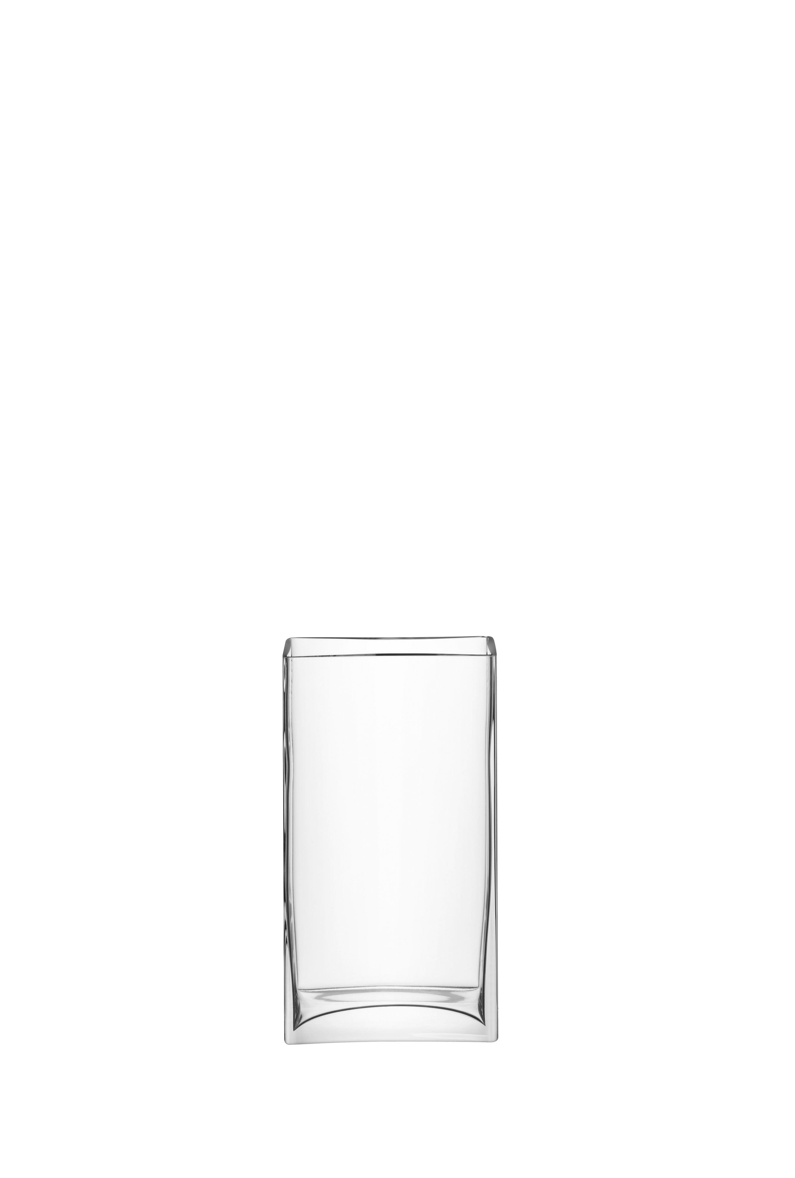 Rectangular bunch vase, clear, 32cm