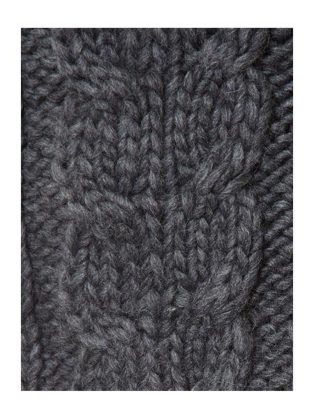 Criminal Cable knit trapper hat