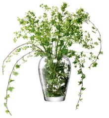 Garden bouquet vase, clear, 25cm