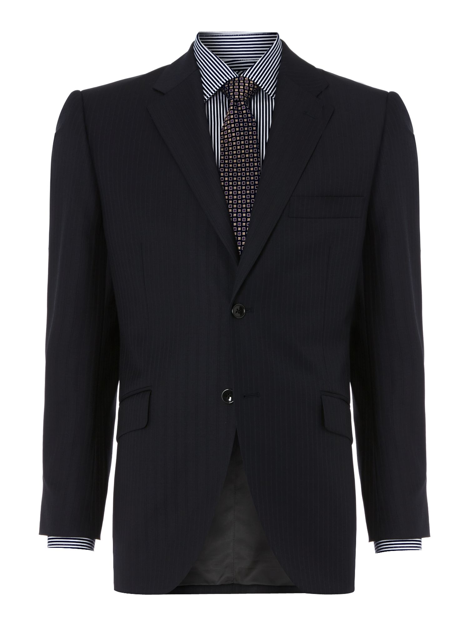 Whitehurst Twill Pinstripe Suit Jacket