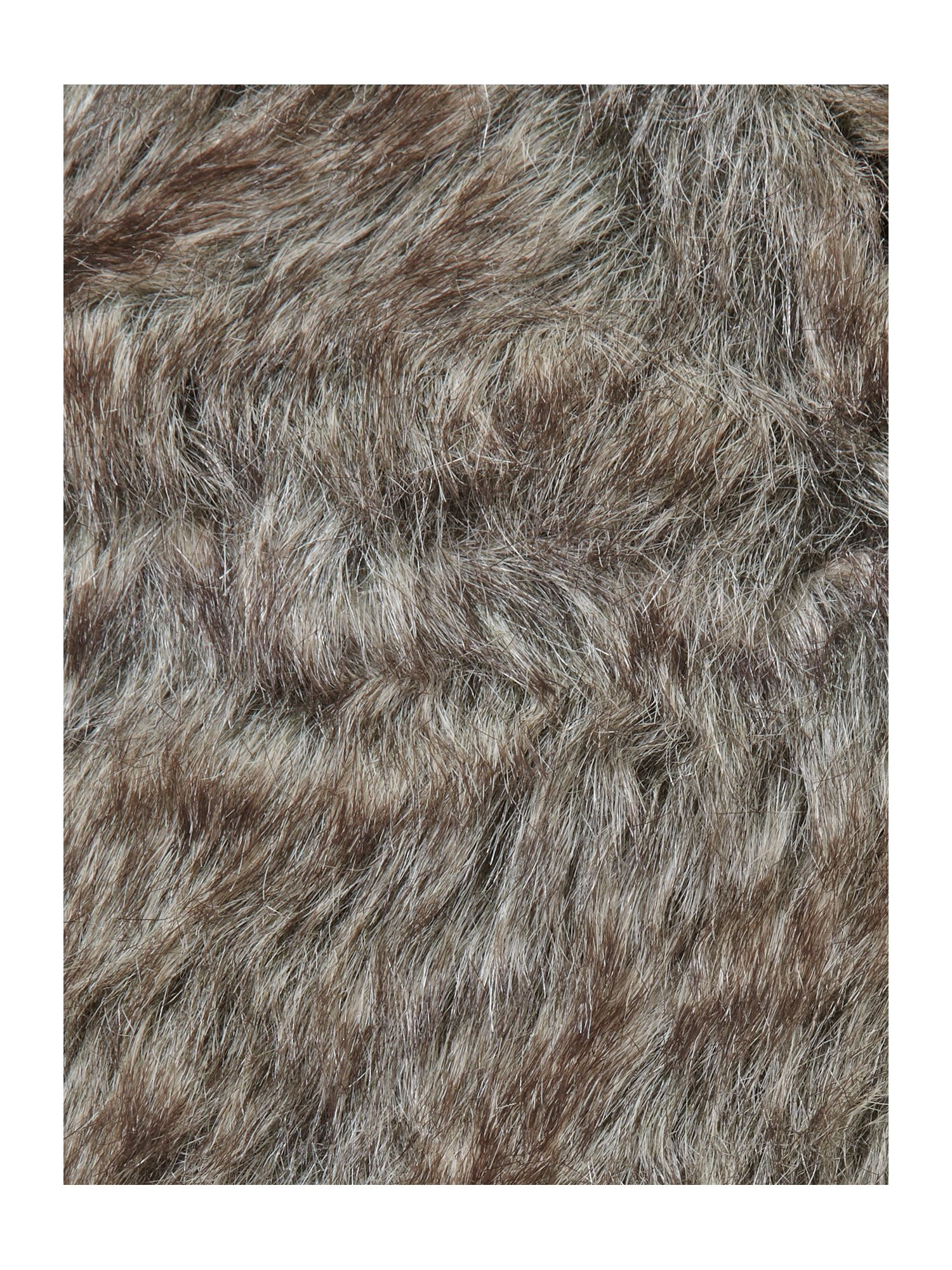 All over faux fur trapper hat