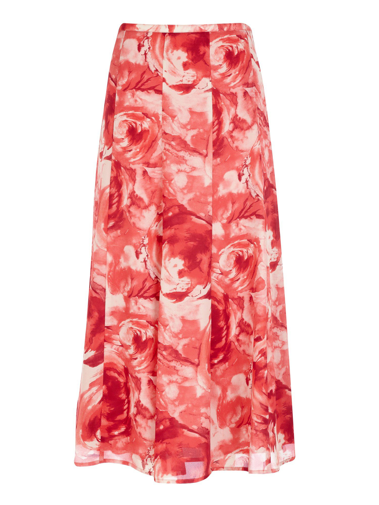 Rose wash panelled  skirt