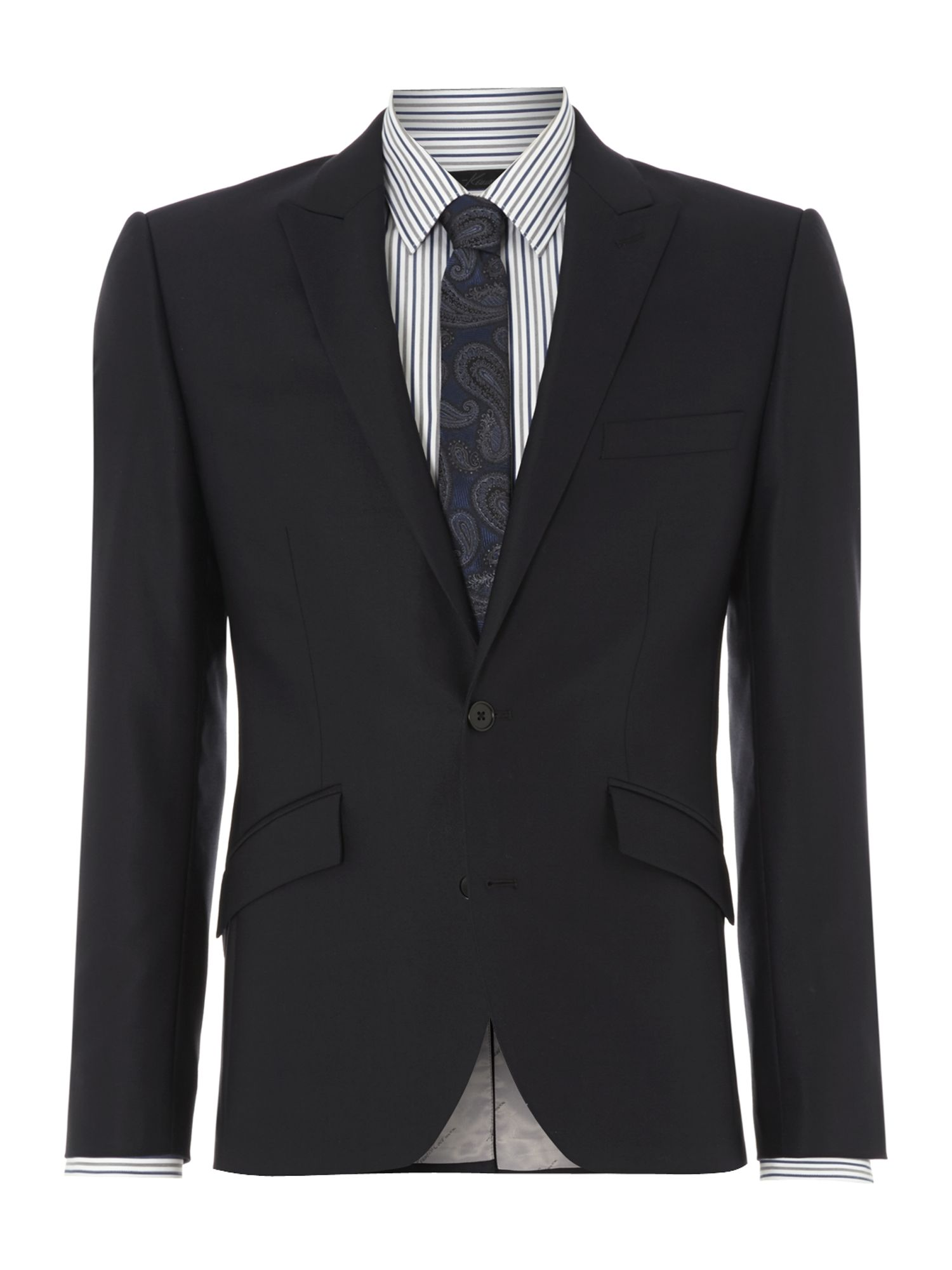 Watts Stretch Slim Fit Twill Peak Suit Jacket