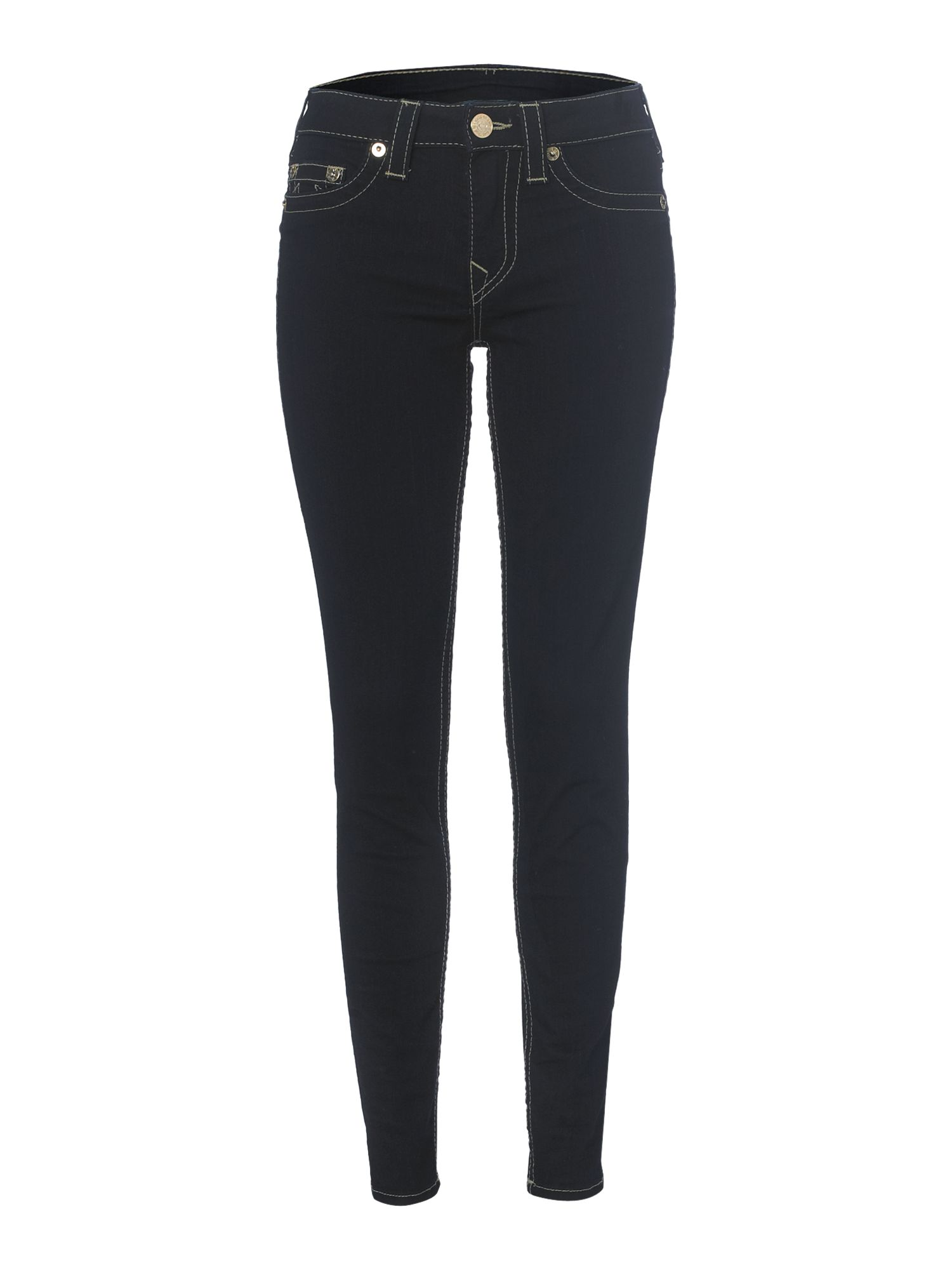 Halle skinny jeggings with gold plaque