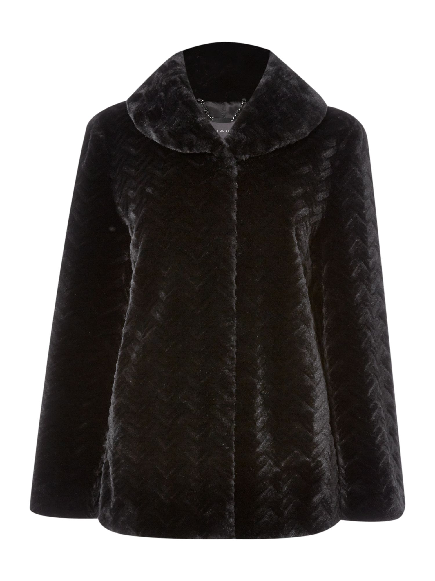 Chevron fur coat