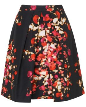 L.K. Bennett Floral Pleated Skirt