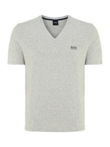 Hugo Boss Long Sleeve V Neck Logo T Shirt