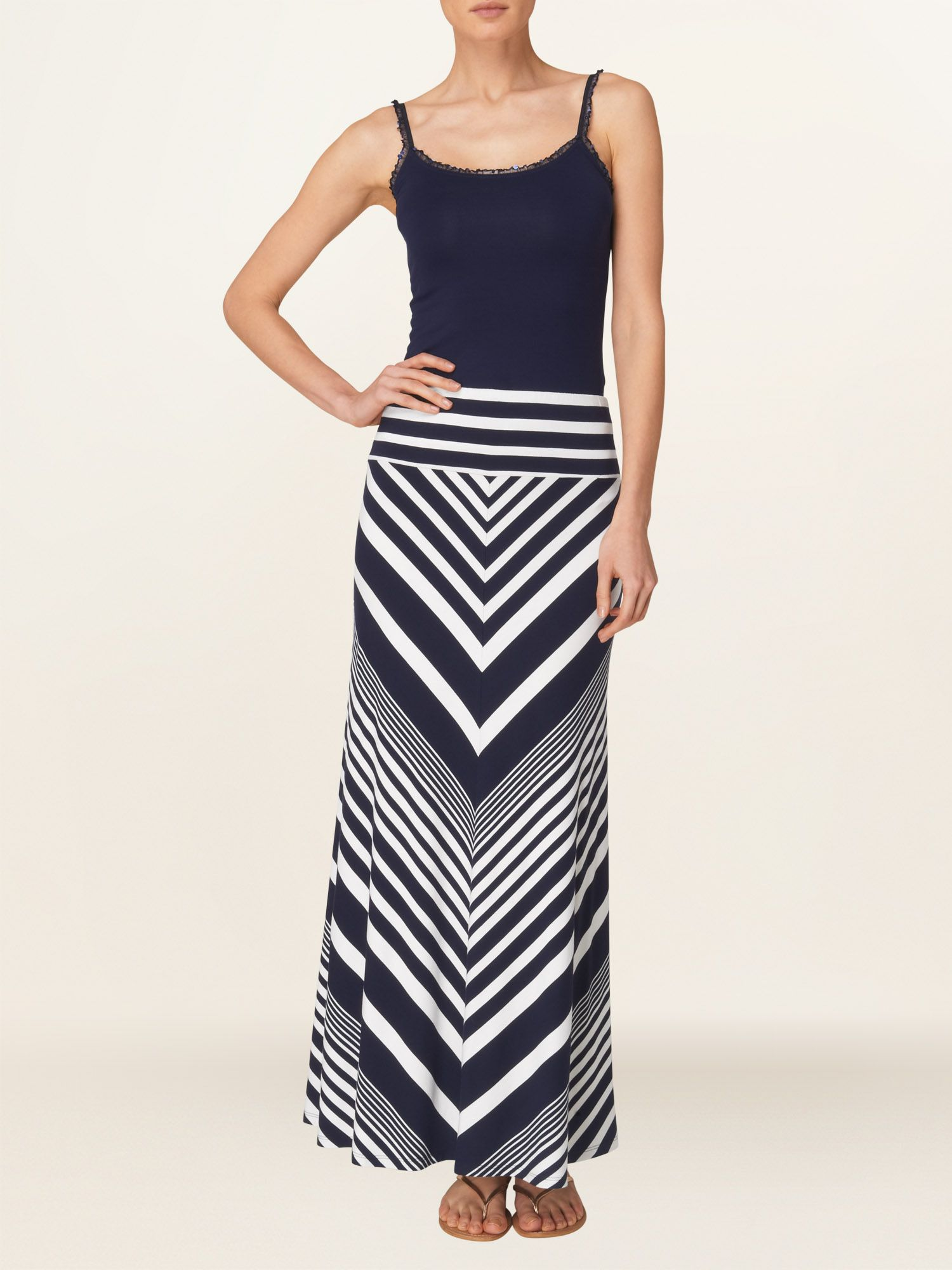 Ellison stripe jersey skirt