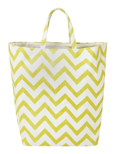 Linea Zig Zag Laundry bag in chartreuse
