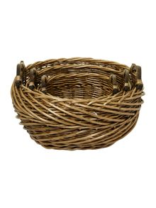 Set of 3 woven willow shelf baskets