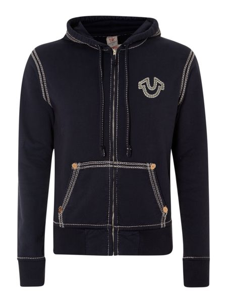 True Religion Logo hooded sweater
