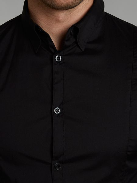 Armani Jeans Fitted cotton long sleeve shirt