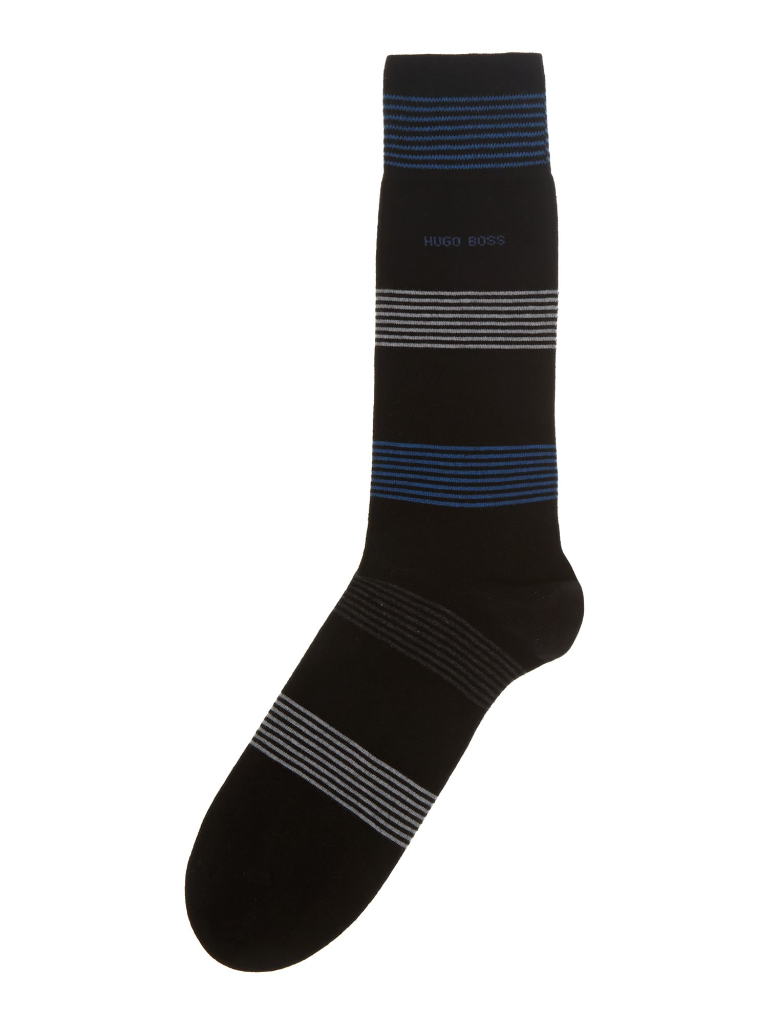 Block stripe cotton sock