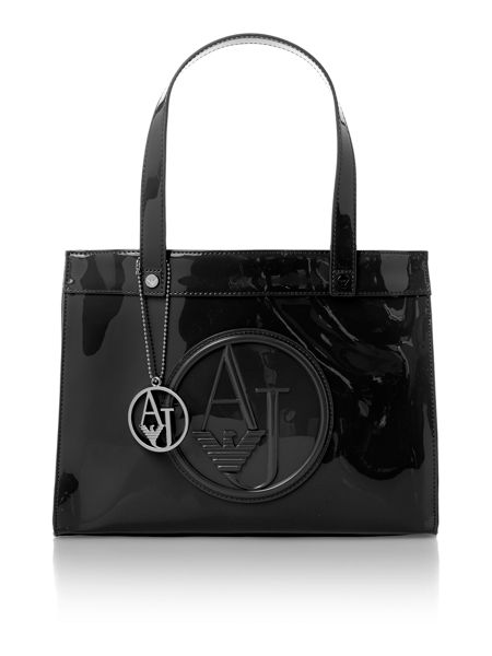 Armani Jeans Patent small crossbody bag