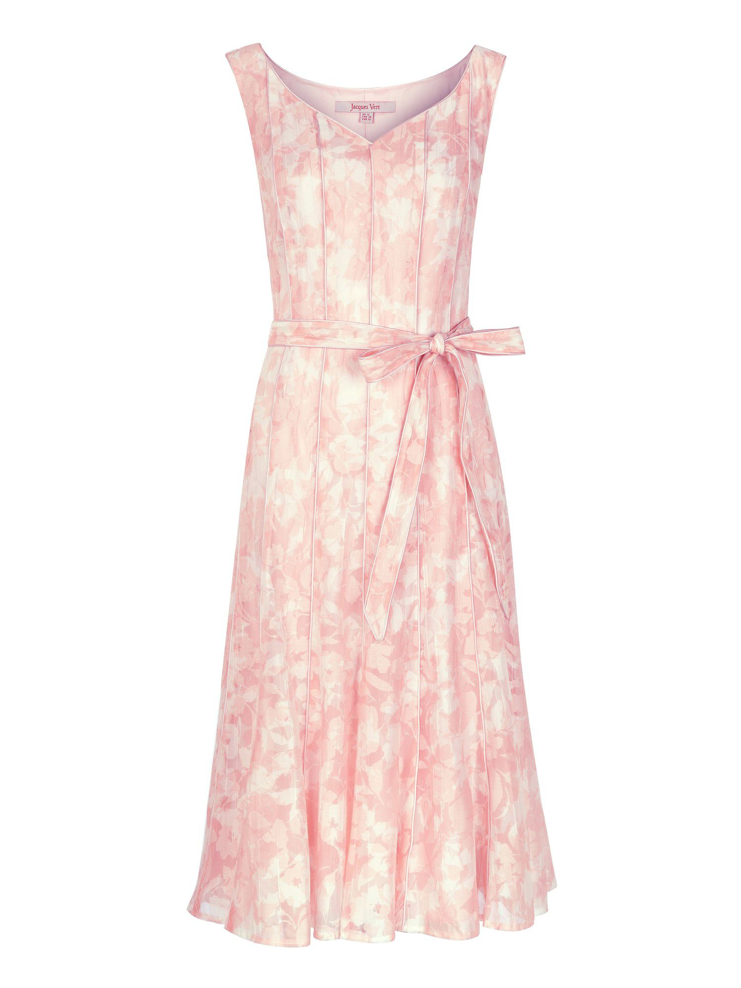 Pink burnout prom dress