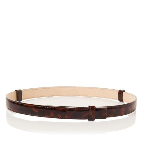 Alex narrow adjustable patent belt