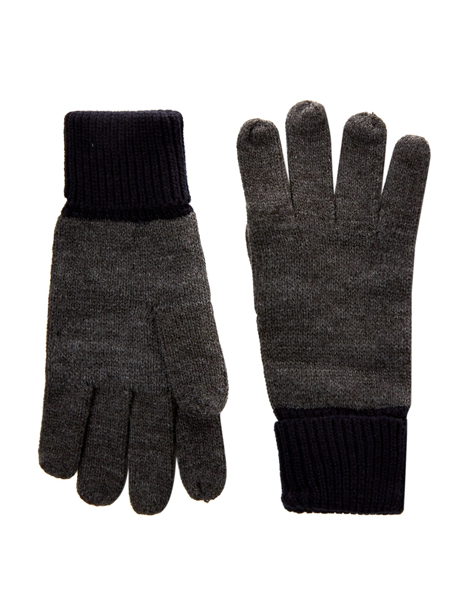 Contrast cuff gloves