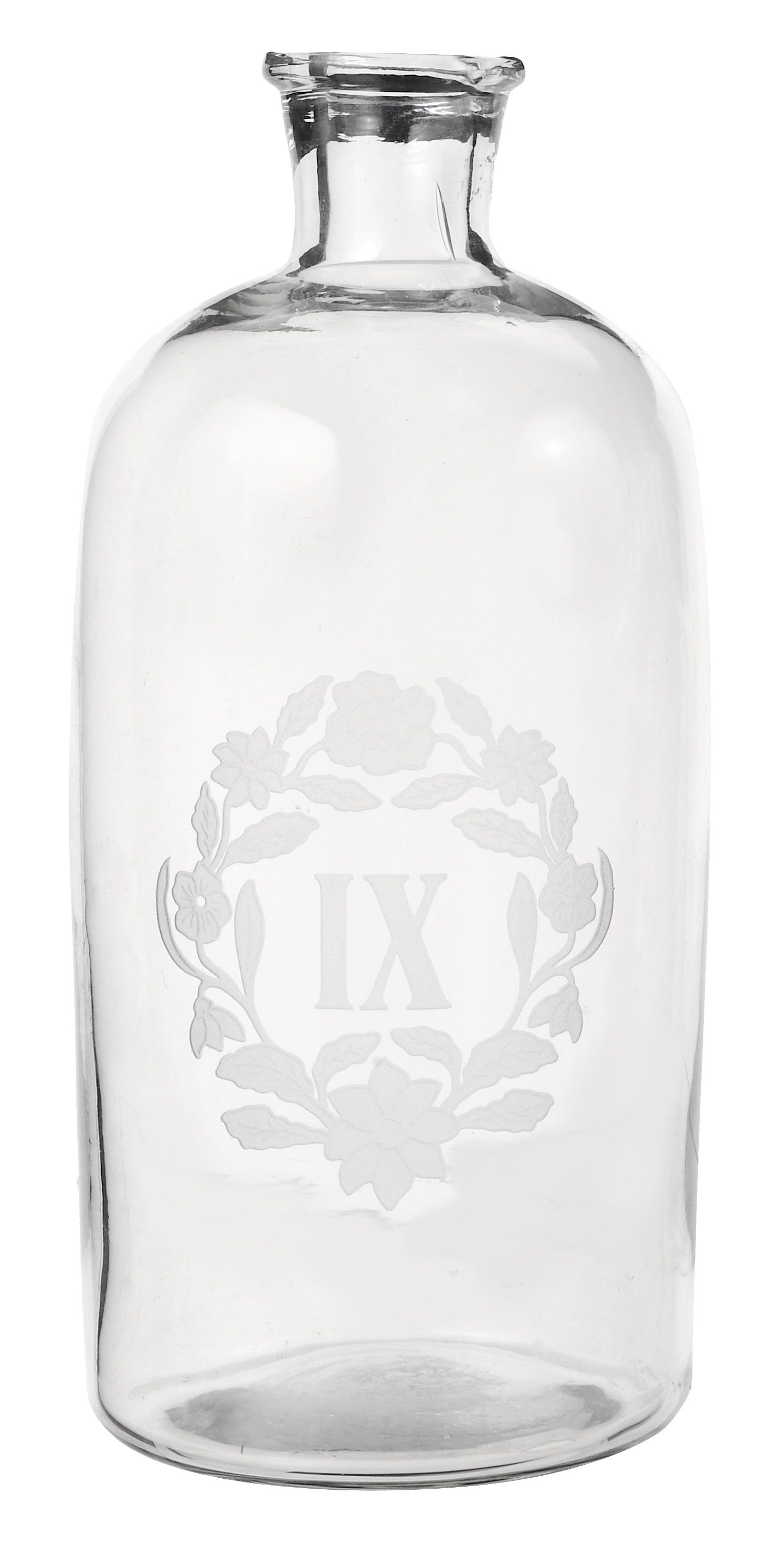 Medium decorative glass bottle