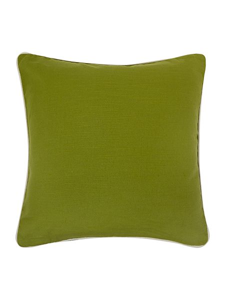 linea green cotton cushion with contrast piping house of. Black Bedroom Furniture Sets. Home Design Ideas