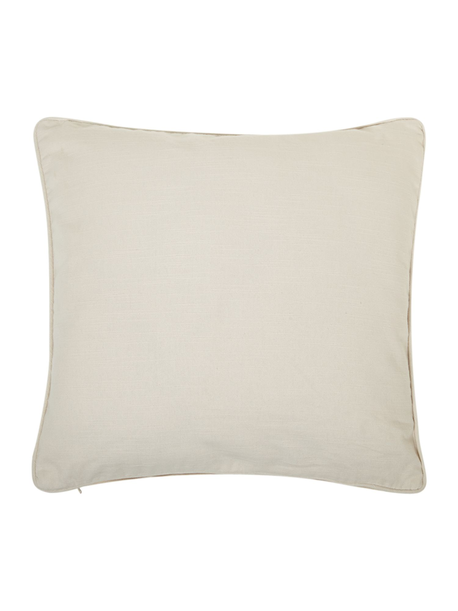 Cream cotton cushion with piping