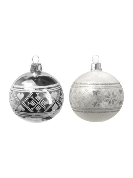 Linea Woodland Charm fairile silver and white bauble