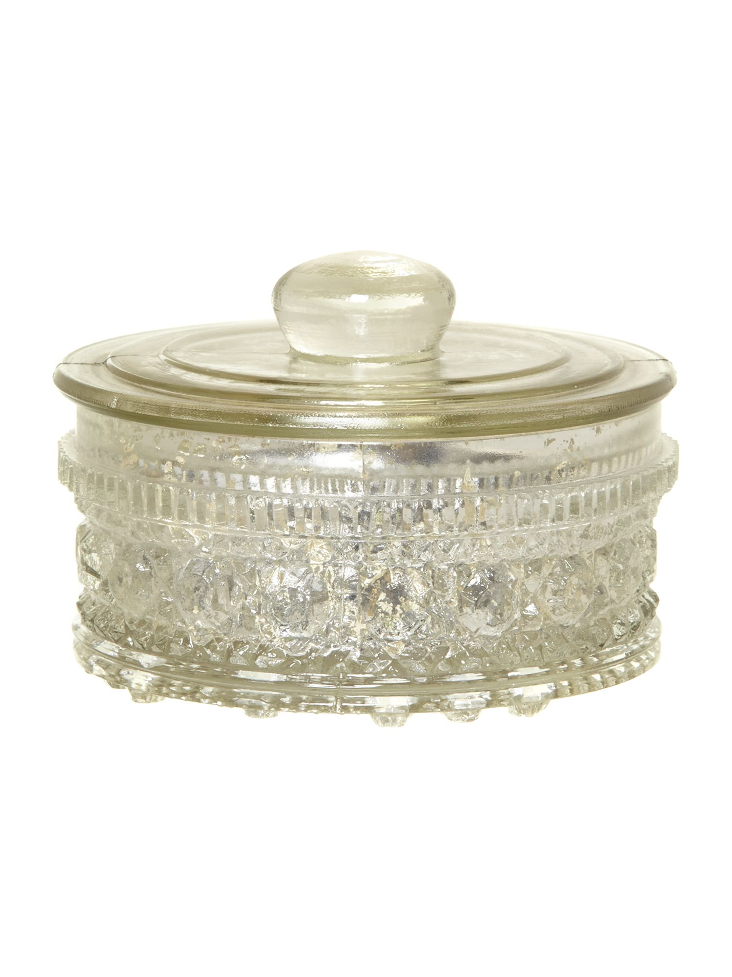 Mercury glass trinket box