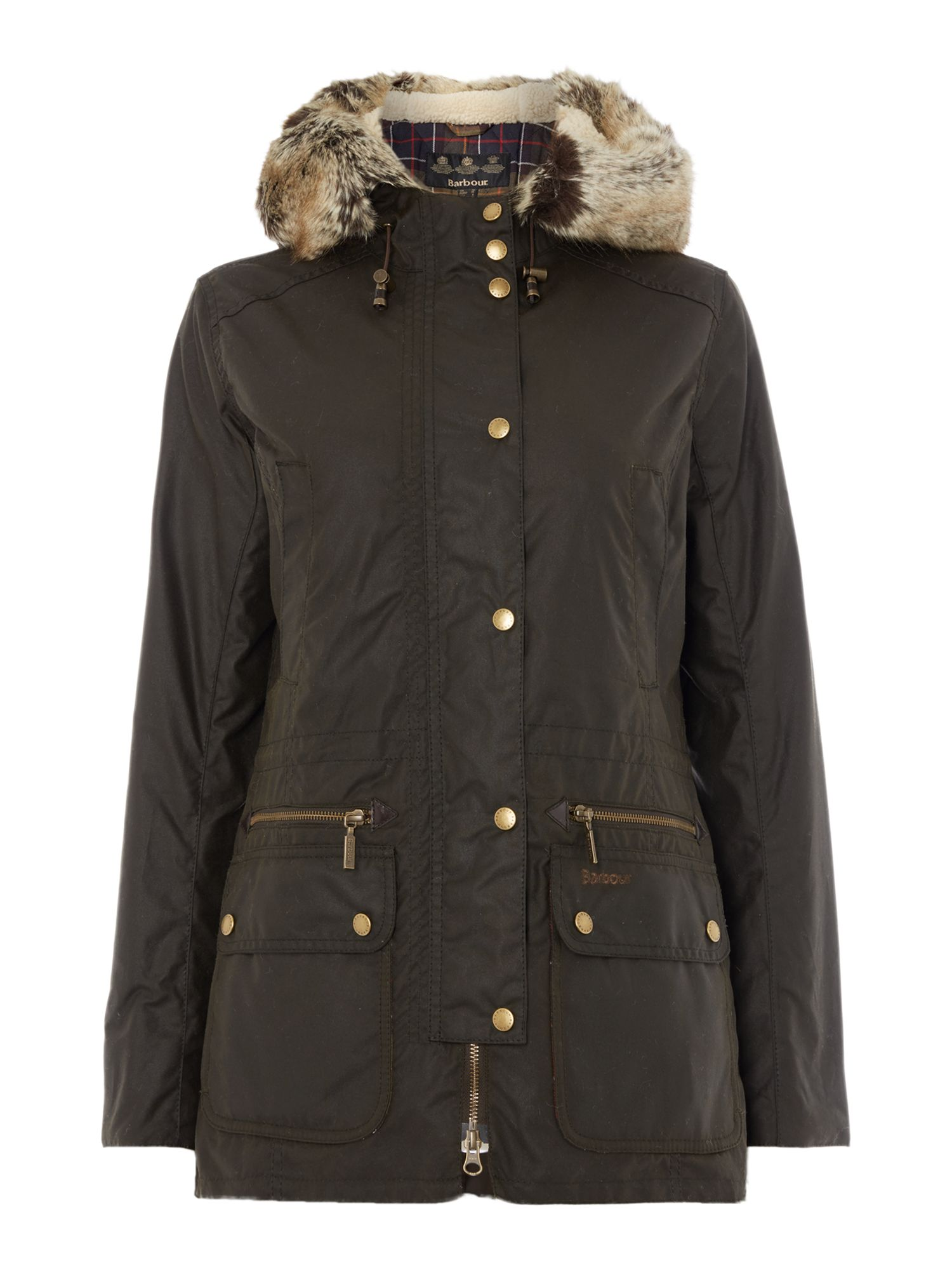 Barbour Kelsall waxed jacket, Olive