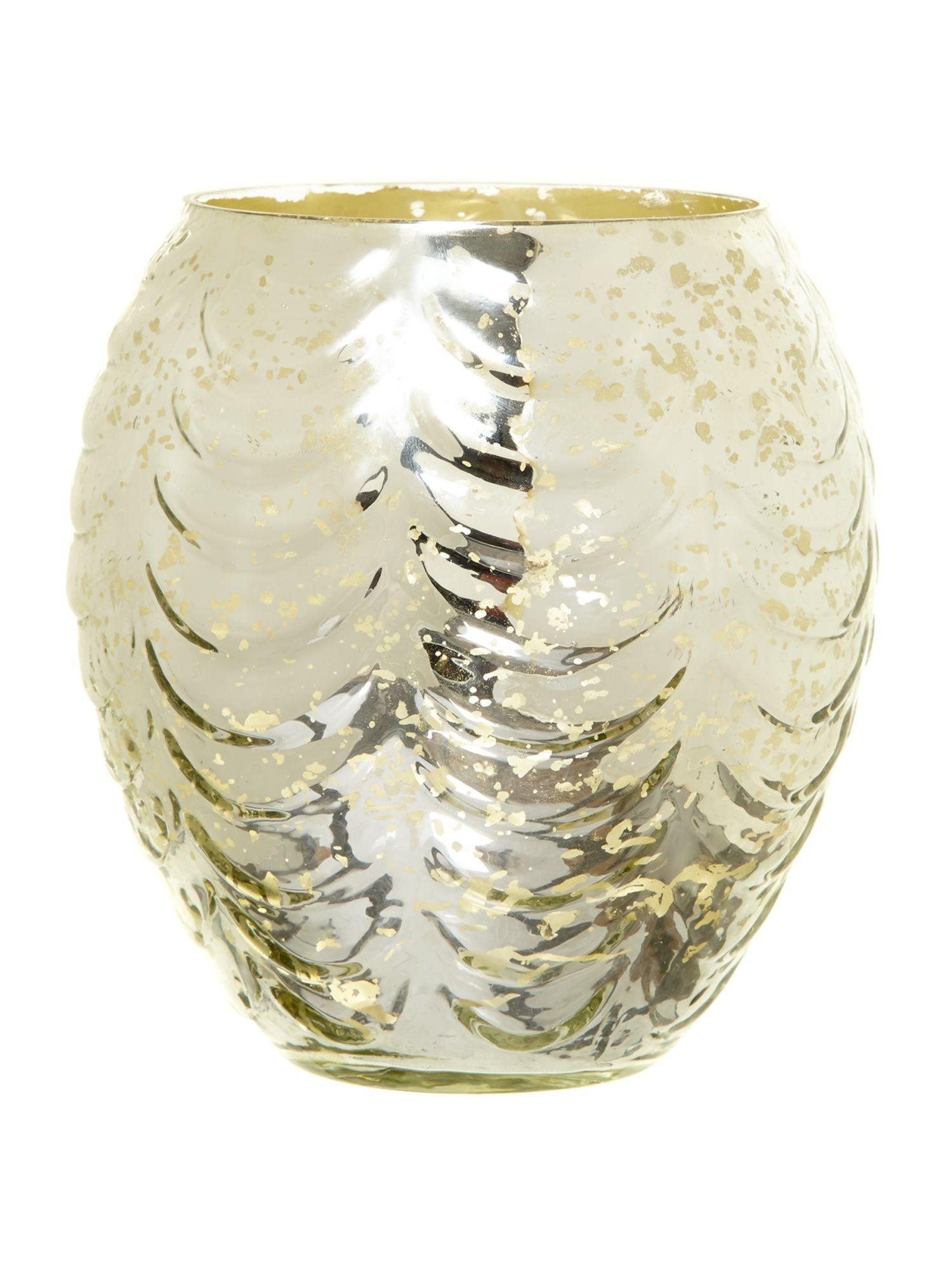 Mercury glass votive, large