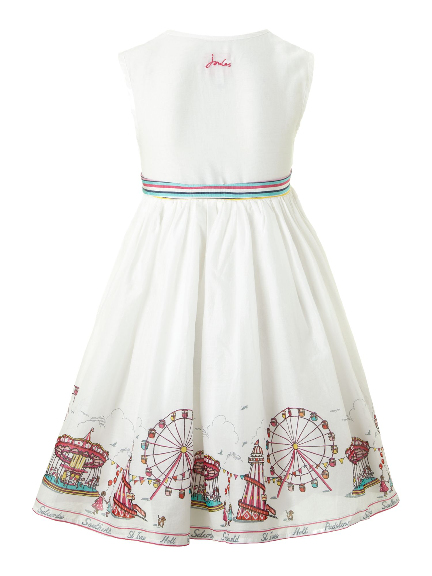Girl`s fairground print party dress