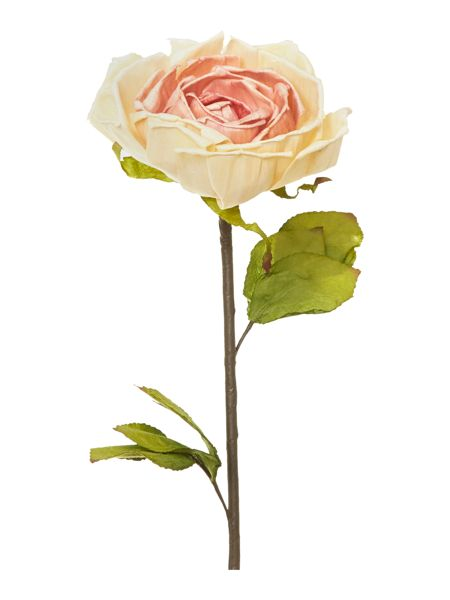 Shabby Chic Pink paper rose stem