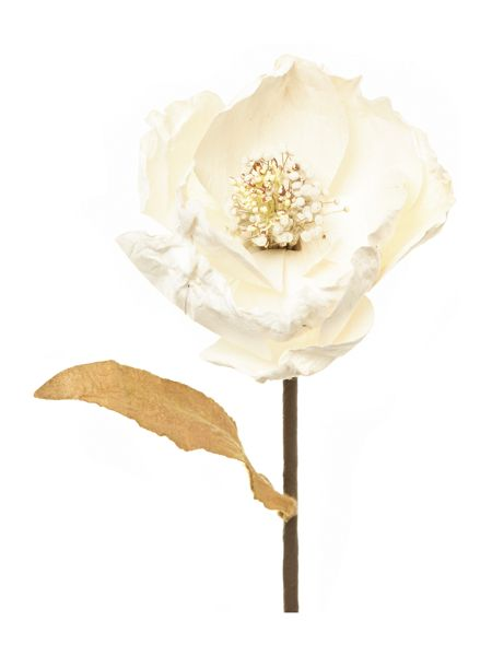Shabby Chic Cream paper flower stem