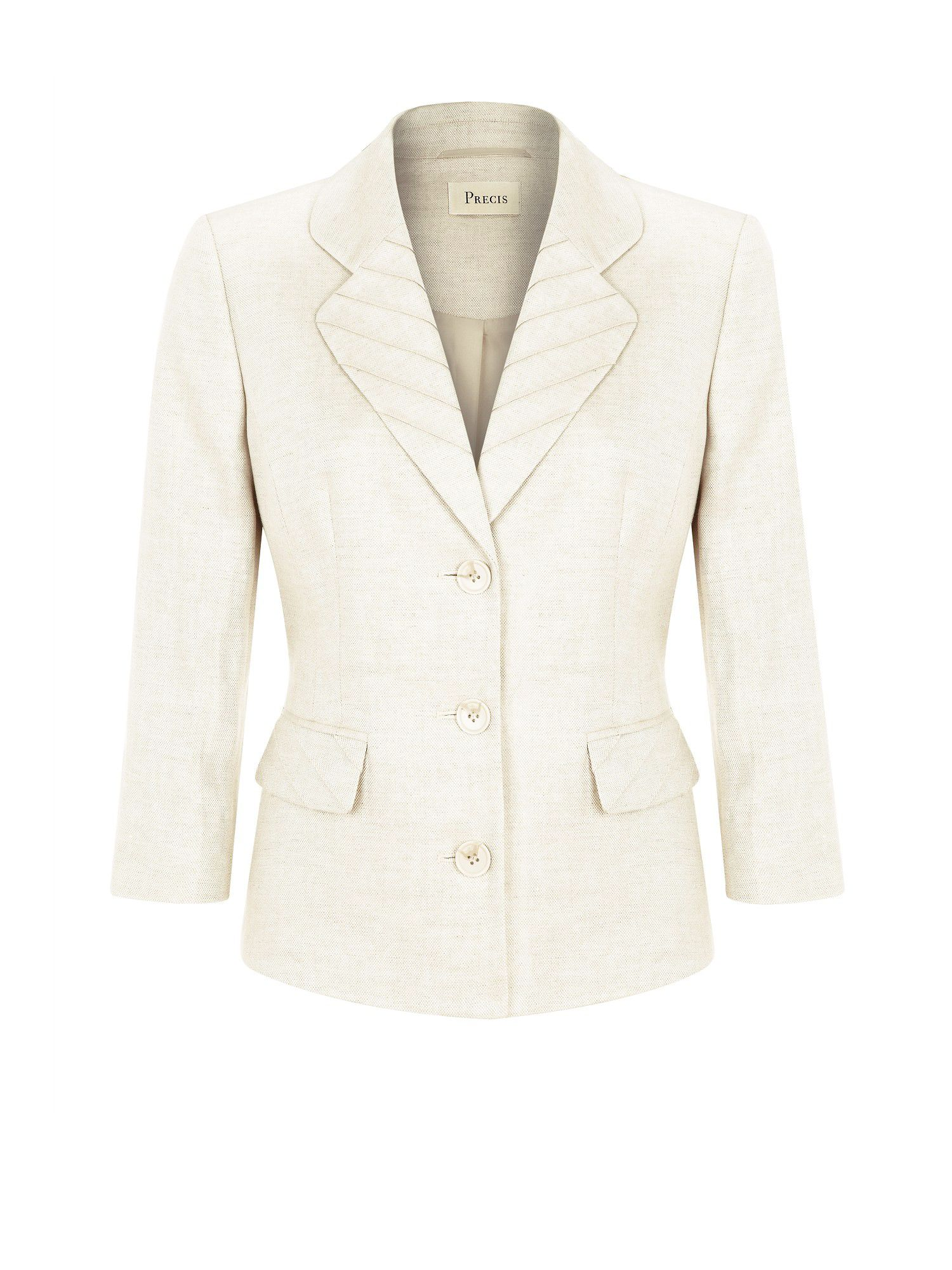 Natural pintuck linen jacket