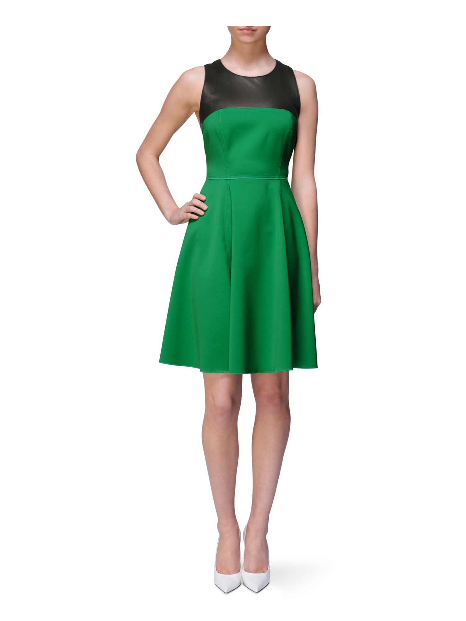 Sleeveless racer dress