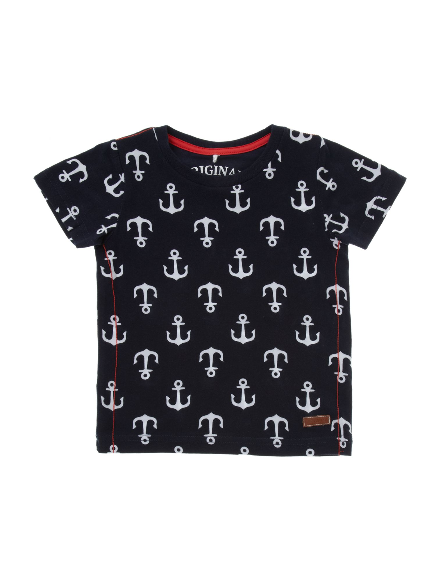 Boy`s anchor all over print t-shirt