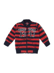 Boy`s sripe zip-thru sweatshirt