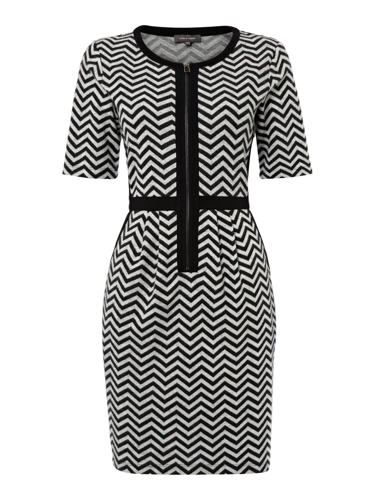 Zig zag sweater dress