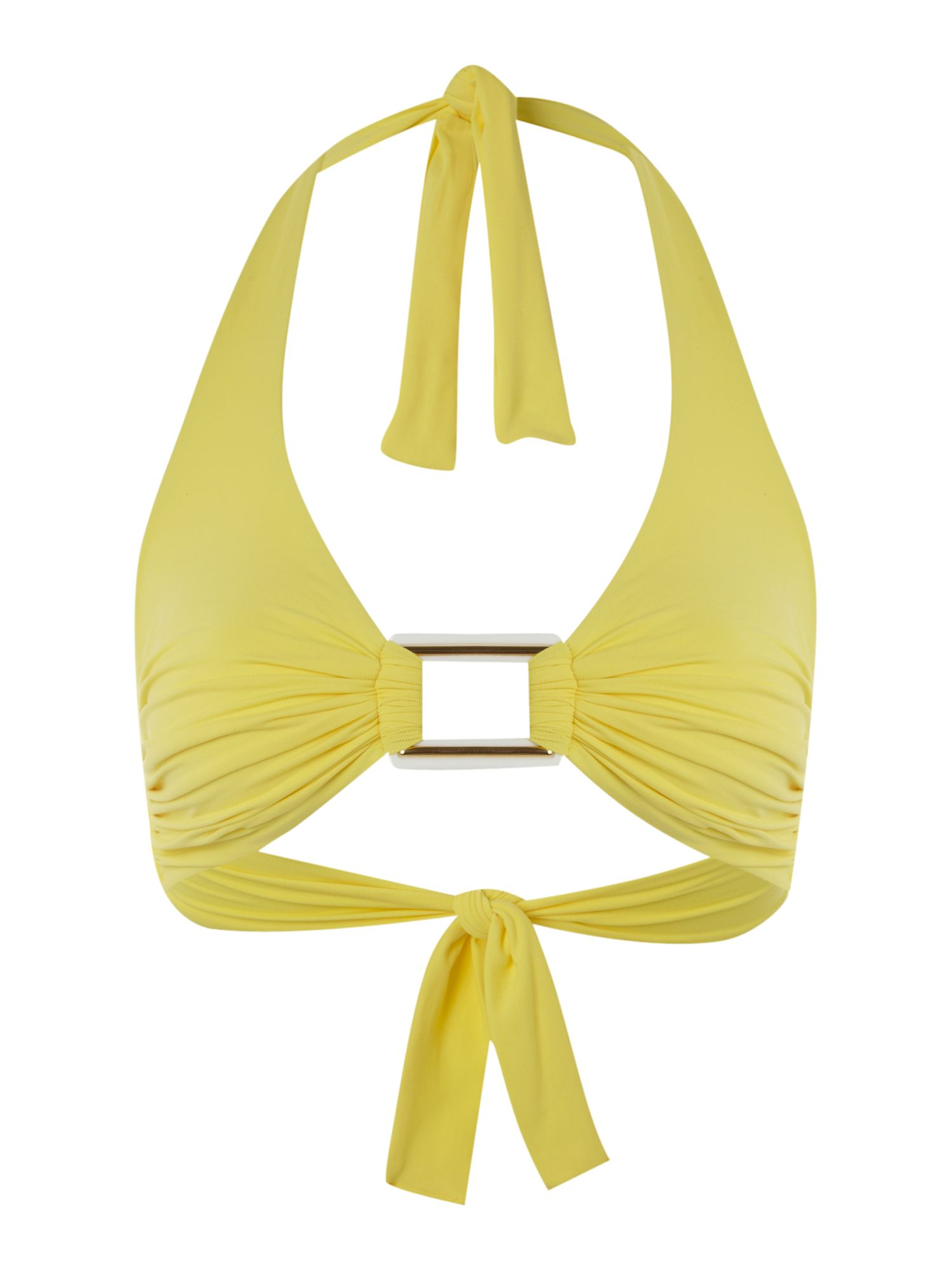 Paris yellow halter top