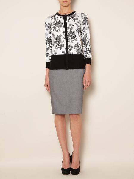 Linea Textured pencil skirt