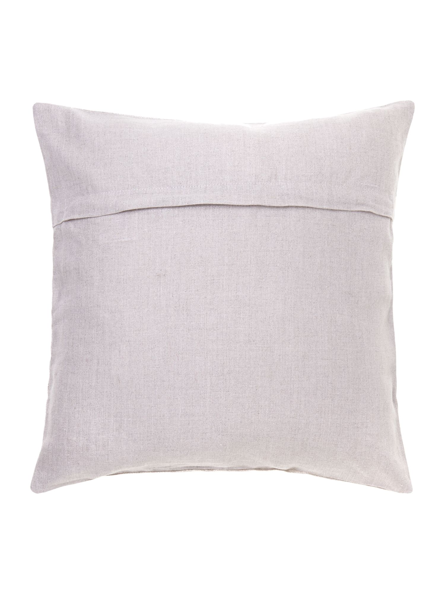 Gold effect linen cushion
