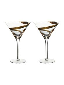 LSA Malika cocktail glasses set of 2
