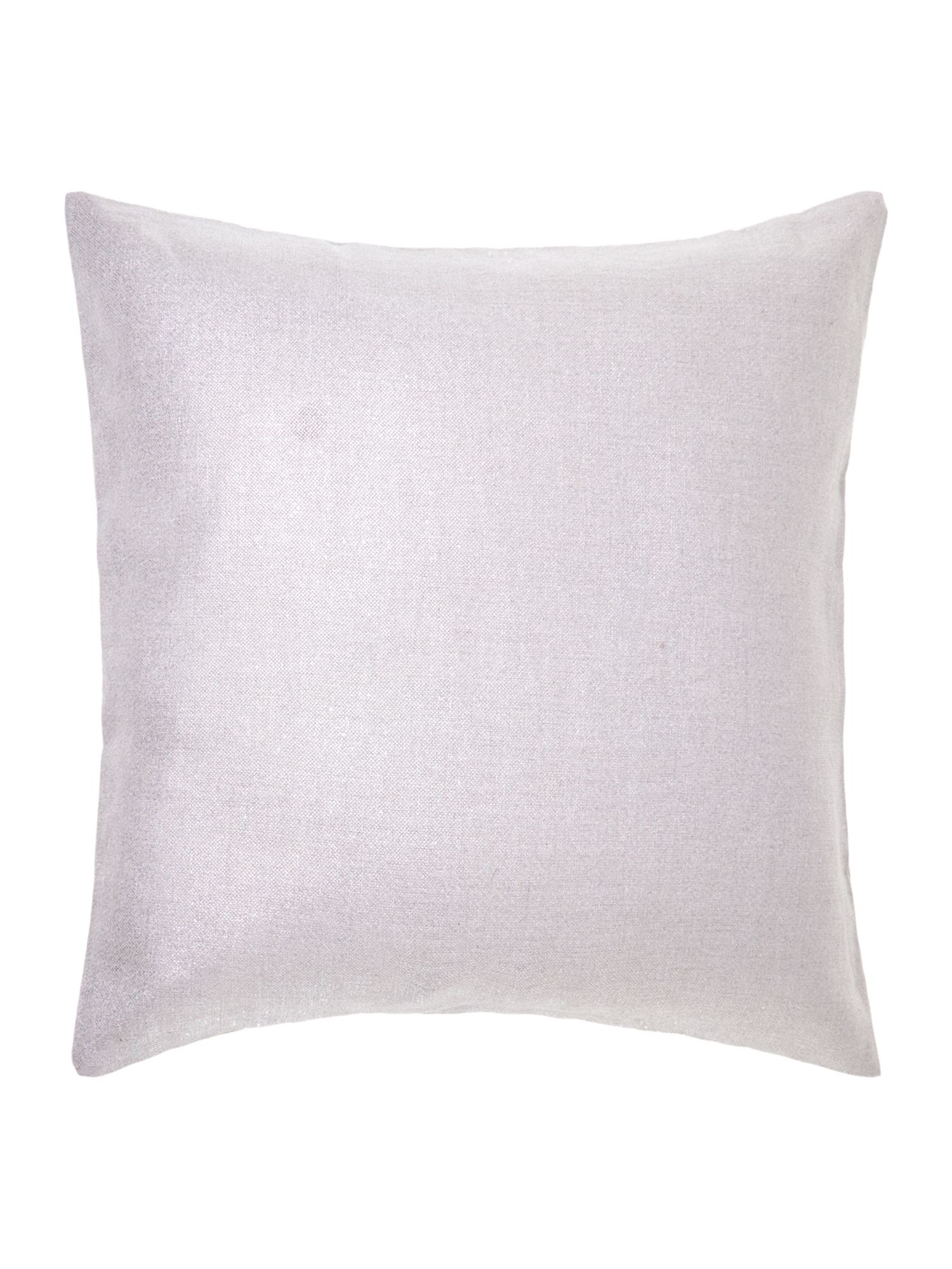 Silver effect linen cushion