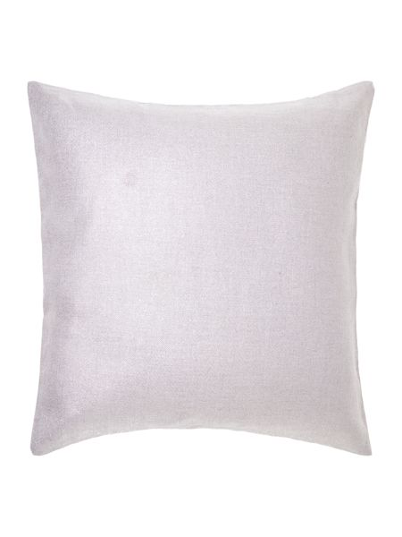 Linea Silver effect linen cushion