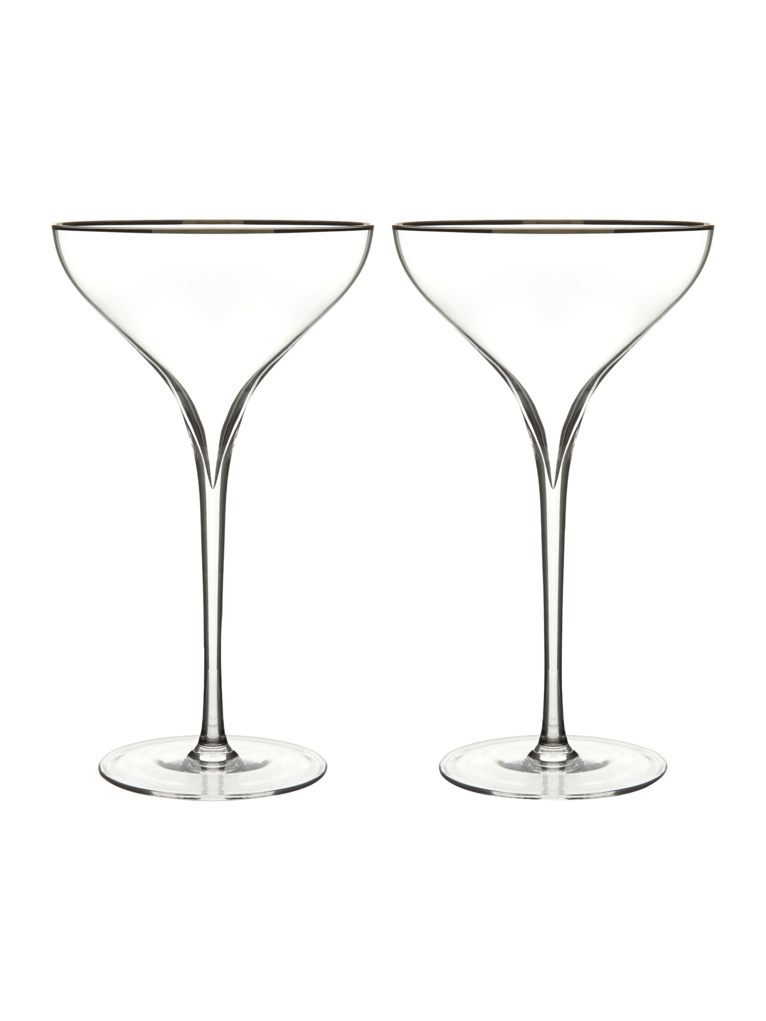 Savoy champagne saucer set of 2
