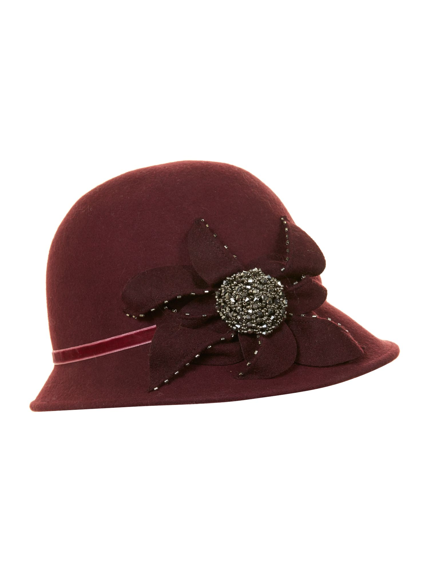 Embellished cloche