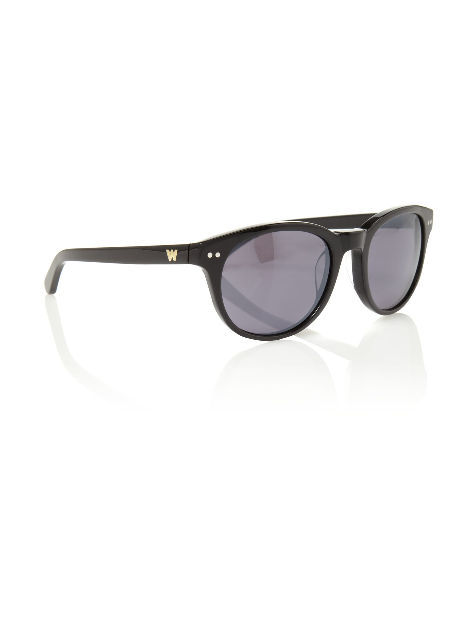 Faye mirrored black sunglasses