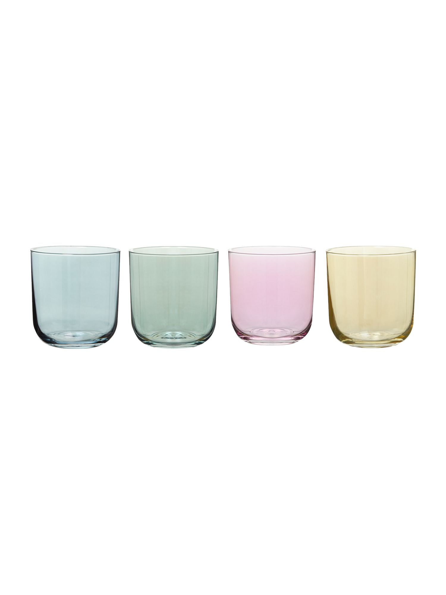 Polka pastel tumbler, set of 4