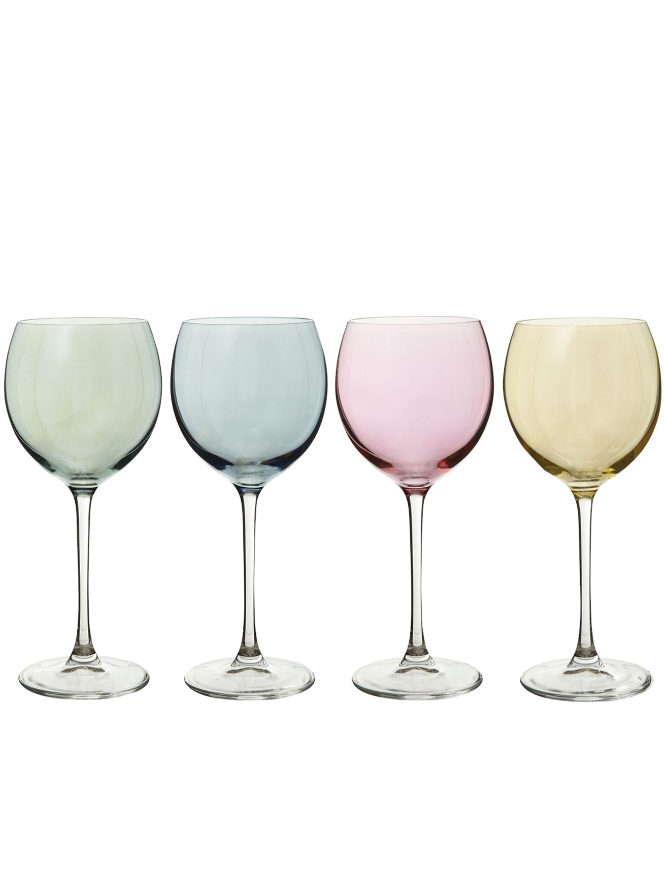 Polka Pastel wine glass, set of 4