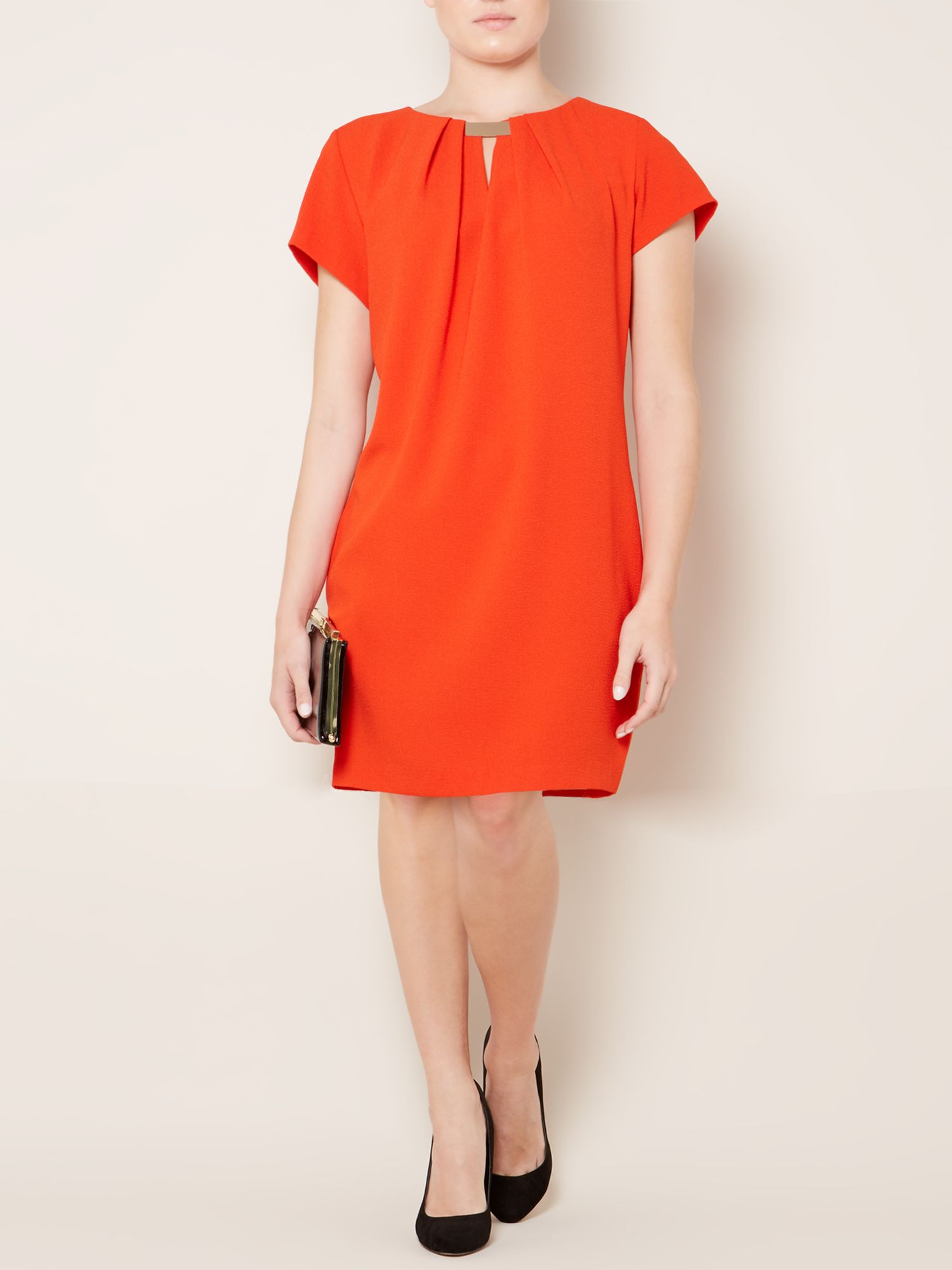 Pebble crepe dress